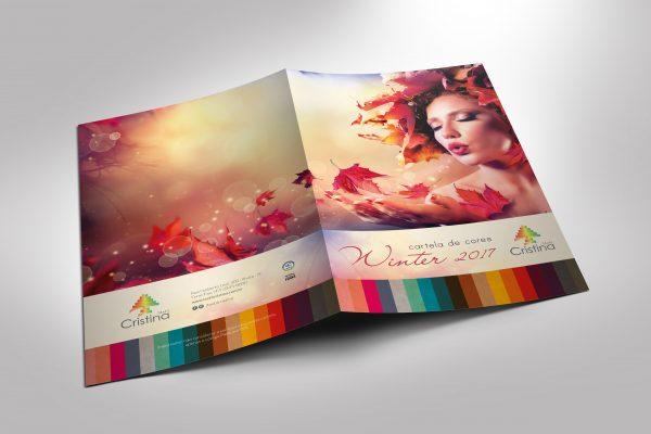 Criação de layout para cartela de cores têxtil.